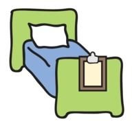Clipart of single Hospital bed