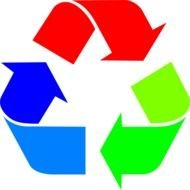 Clipart of recycling symbol