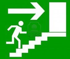Clip art of emergency exit sign