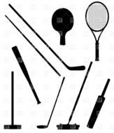 Equipment for sports clipart