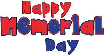 Clipart of happy memorial Day