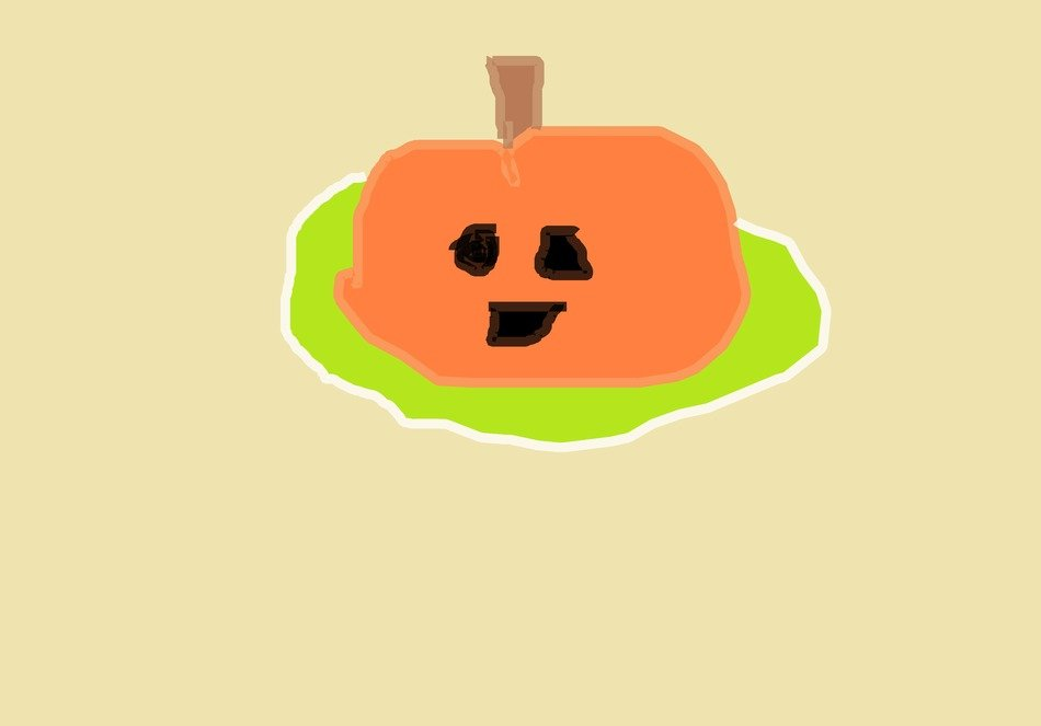children drawing of a pumpkin