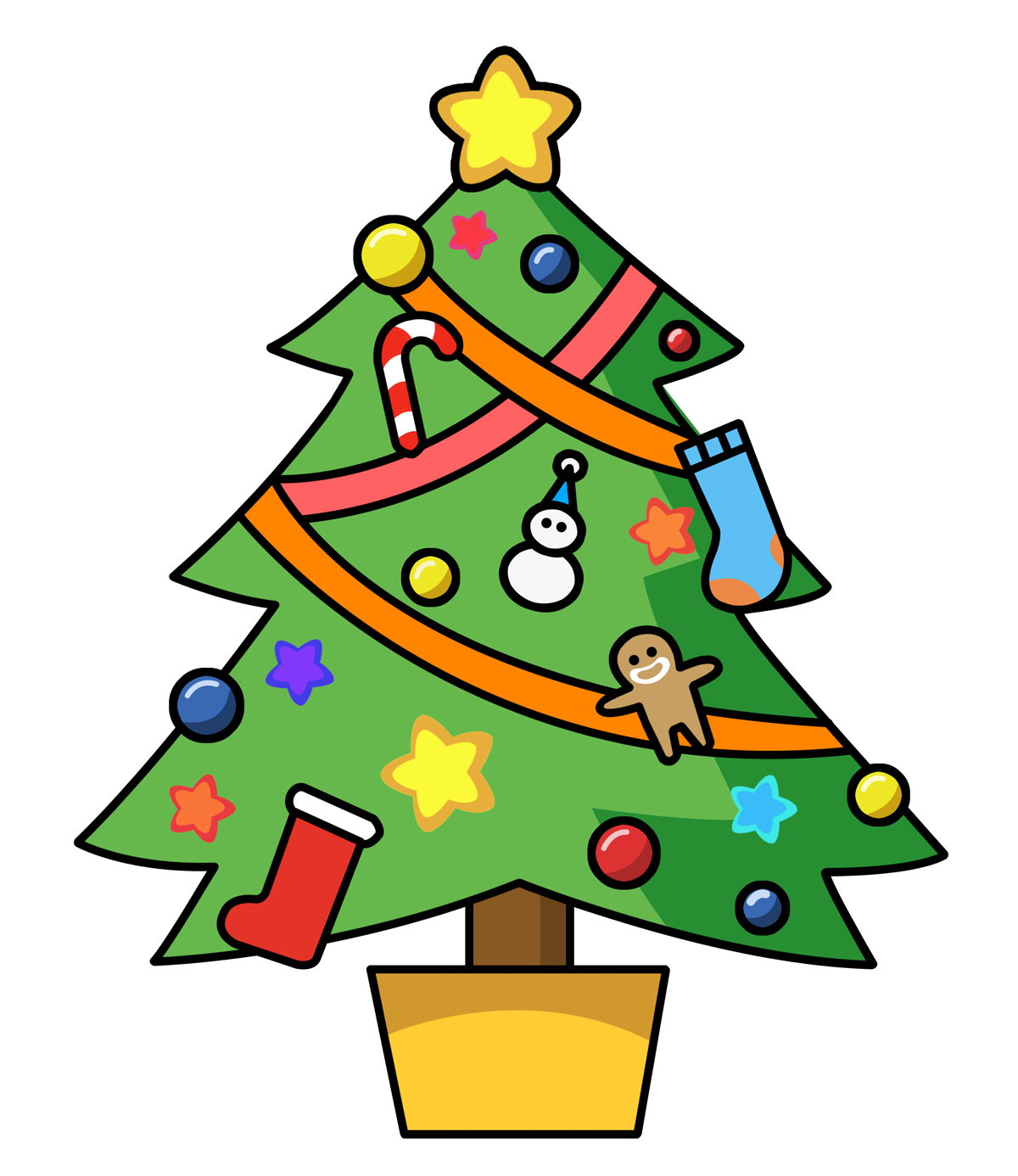 Free Cute Christmas Tree Clipart Free Image