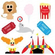 Circus Tent Vintage clipart