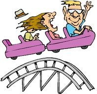 Rollercoaster on weekend clipart