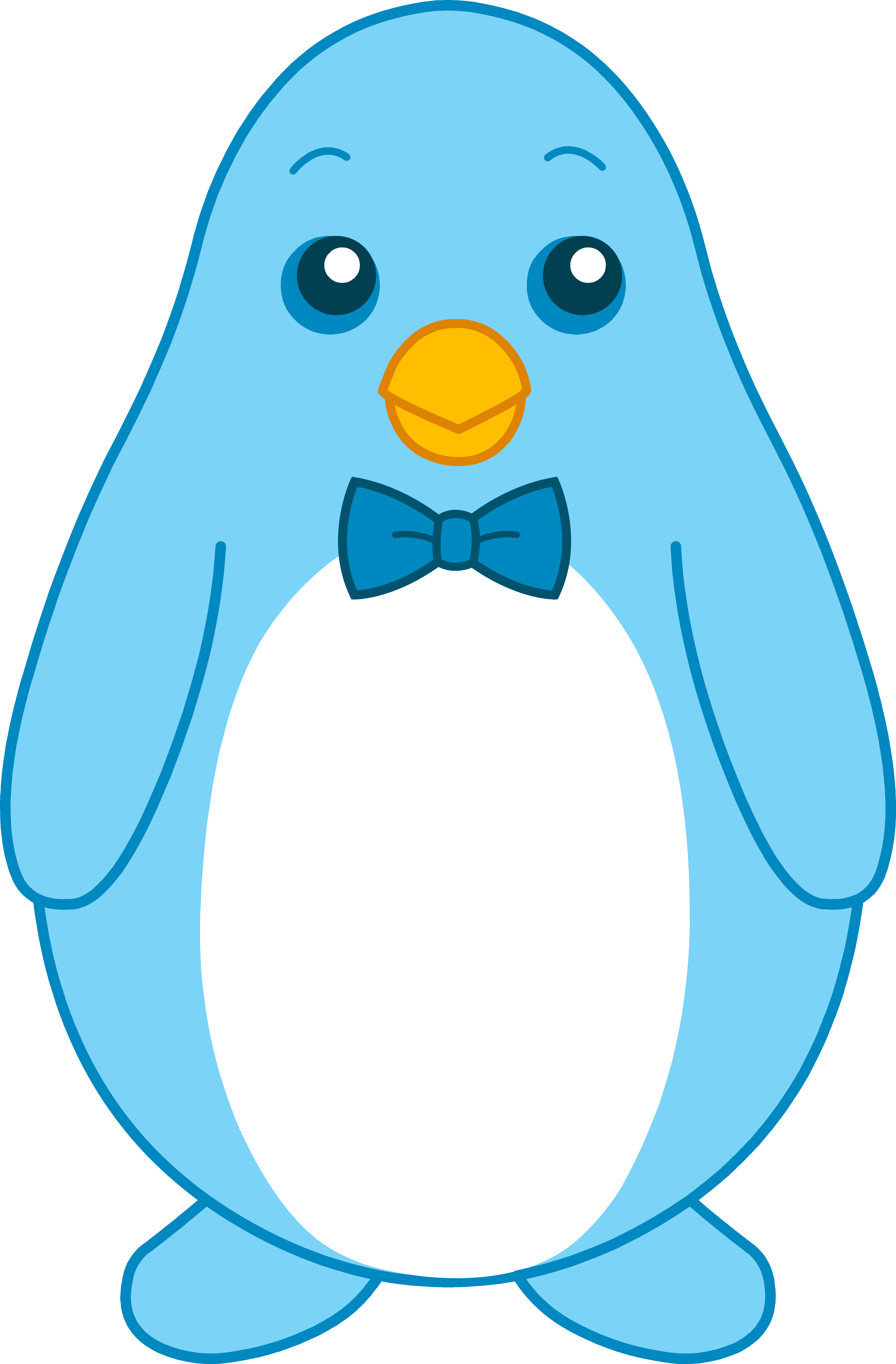 Cute animated baby penguins