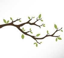 Tree Branch Vinyl Wall Decal Sticker Leaves Modern Contemporary clipart
