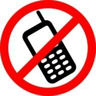 prohibiting mobile phone sign