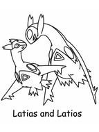 Mega Latias Rubis Omega Et Saphir Alpha Coloring Pages Printable | 190x143