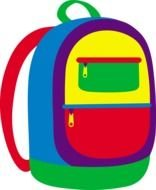 Clipart of Colorful school bag