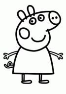 Peppa Pig Coloring Page drawing