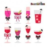 clip art with bachelorette cocktails