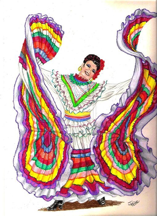traditional Mexican dancer