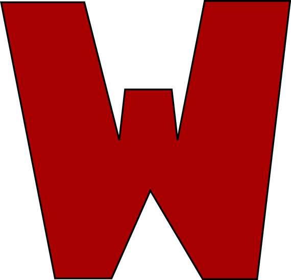 "Big Red W: Big Red Letter ""W"" For Clipart Free Image"