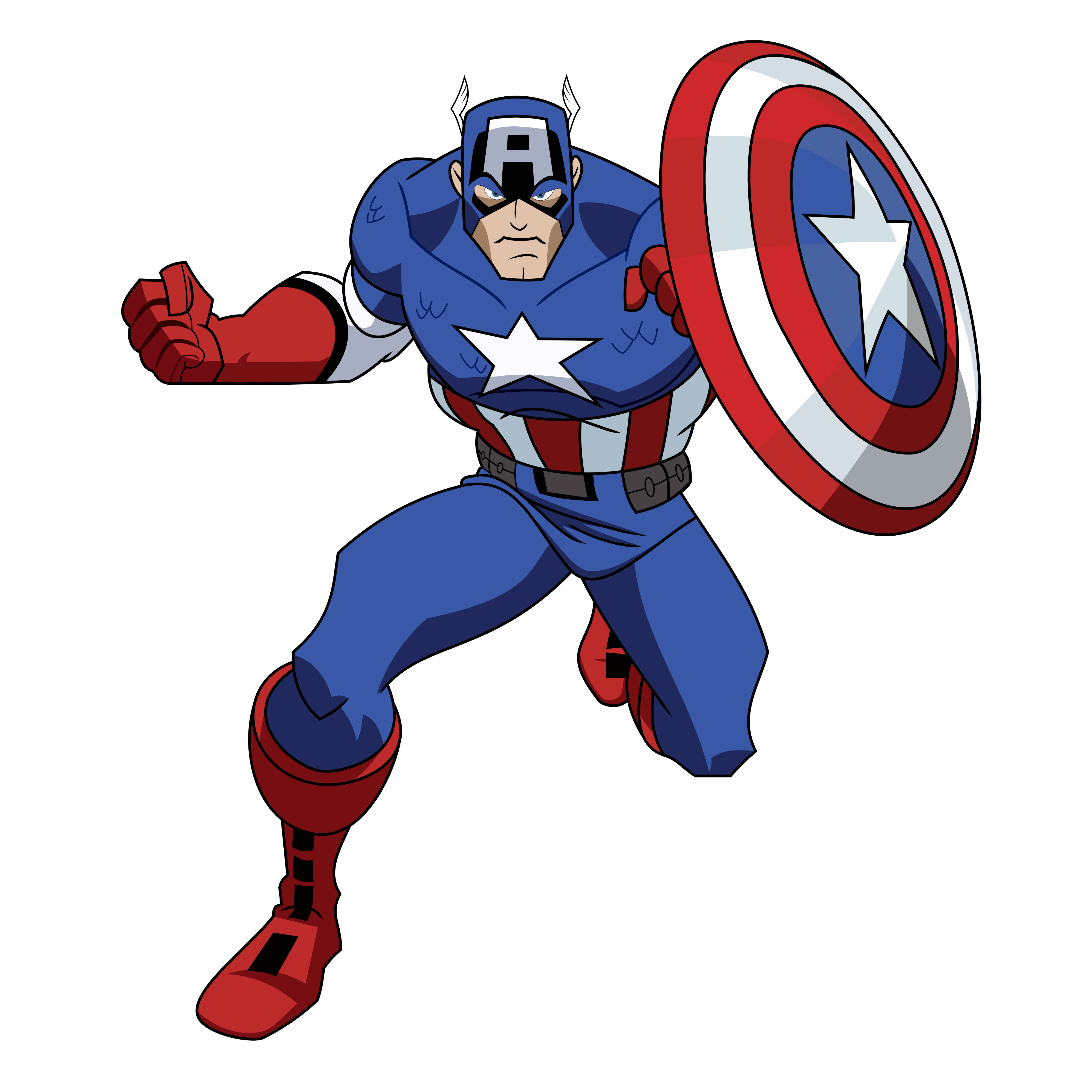 CAPTAIN AMERICA CARTOON AVENGERS