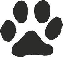 Cat Paw Print drawing