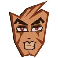 Cartoon brown face clipart