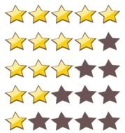 Clipart of the star marks