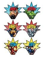 Clipart of the avengers logos