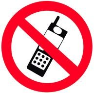 prohibiting talk sign on a mobile phone