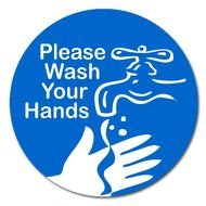Please Wash Your Hands Sign drawing