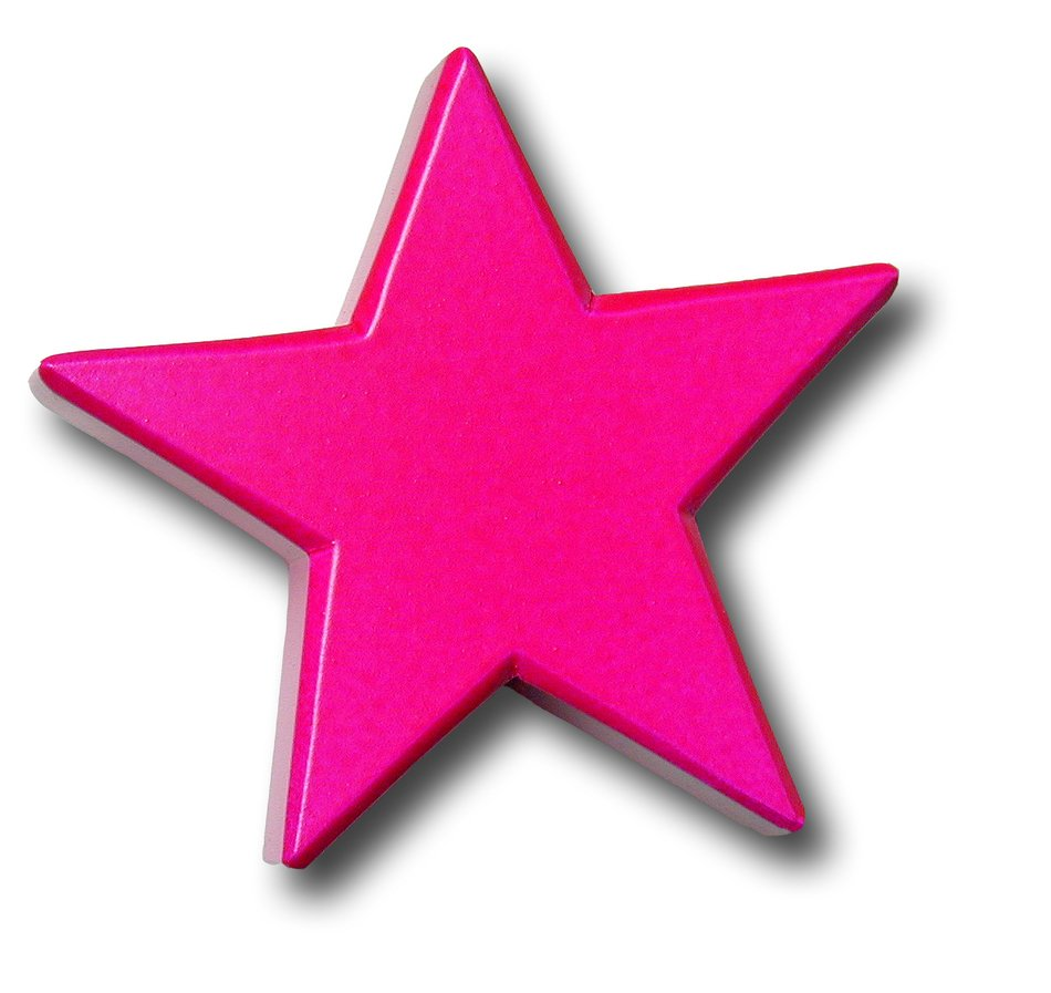 isolated pink star