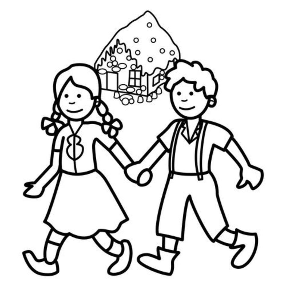 Hansel Y Gretel Pasean Dibujalia Dibujos Para Colorear free image