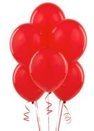 red balloons on a white background
