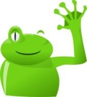 Frog Wave Left At Clkercom Vector Online Royalty clipart