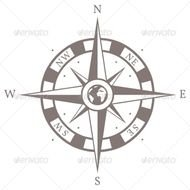 Pin Rose Wind Grunge Vector Compass Navigation Route Map On Pinterest