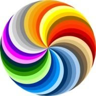 Swirl Colorful Rainbow Colors Arts Circle Public Domain