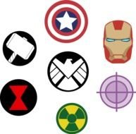 clipart of the avengers icons