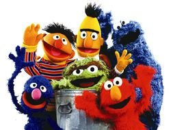 bunch of Sesame Street characters