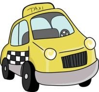 Cartoon Taxi Van Clipart