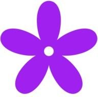 purple flower as a graphic image