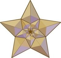 golden multifaceted star as a graphic image