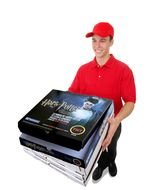 Pizza delivery guy clipart
