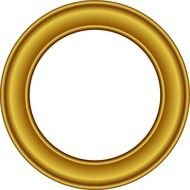Gold circle clipart