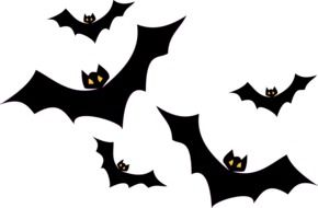 bats flying drawing