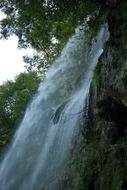 waterfall urach is an attraction for tourists