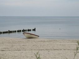 moored boot in Usedom island