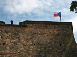 flag on the fortress