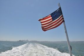 American flag on cruise