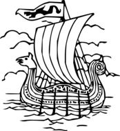 graphic image of an ancient sailing ship