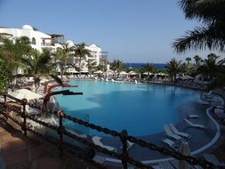 panorama of the pool at the resort