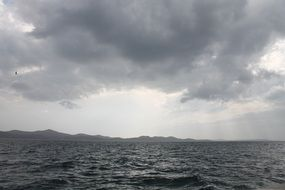 photo of the stormy Mediterranean sea