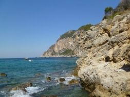 rocky beach of Corfu