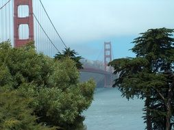 bridge over the river in san francisco