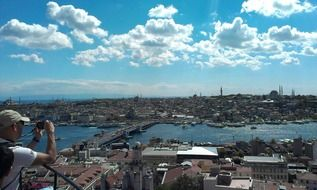 istanbul galata tower view port