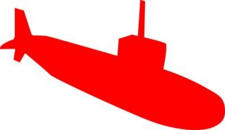 painted red submarine